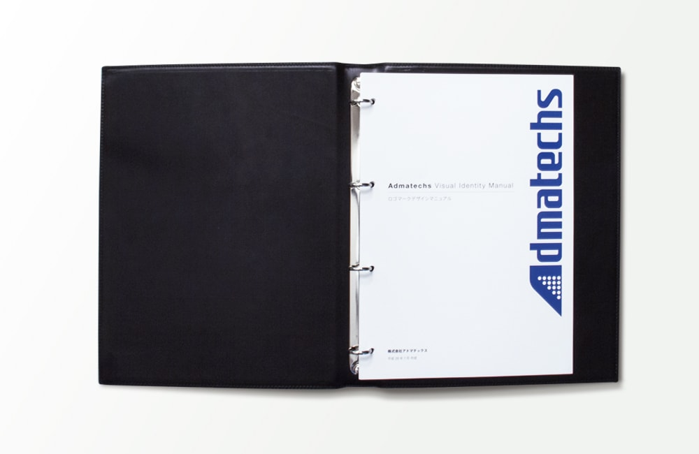 アドマテックスのロゴマニュアルデザイン