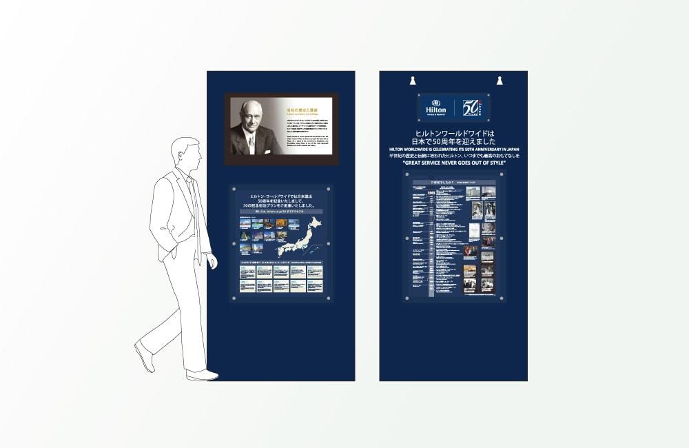 ヒルトンワールドワイドのアニバーサリーロゴマークデザイン