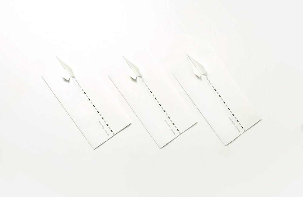 クボンデミニムのインビテーションカードデザイン