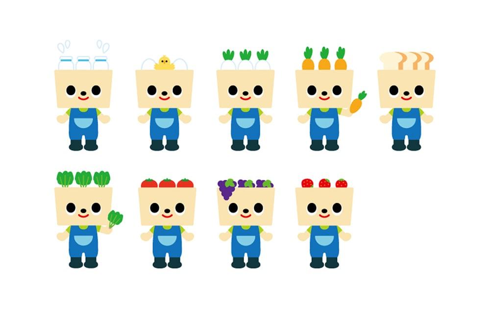 すくすくヶ丘のキャラクターデザイン